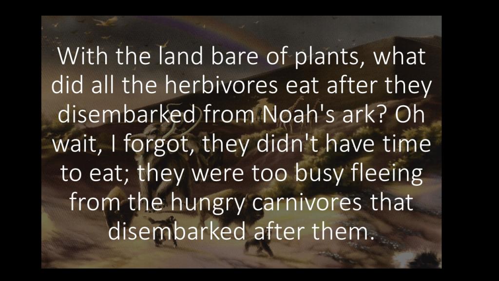Noah's ark carnivores herbivores
