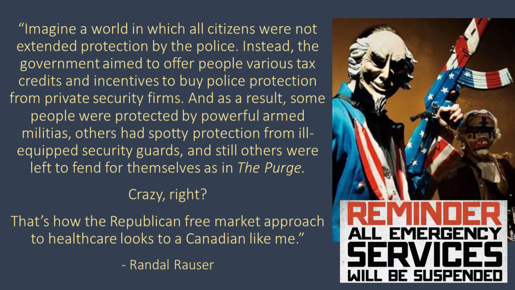 Randal Rauser Healthcare Purge quote