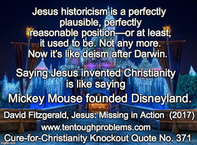 CCCQ No 371, Fitzgerald,Saying Jesus invented Christianity is like saying Mickey Mouse founded Disneyland