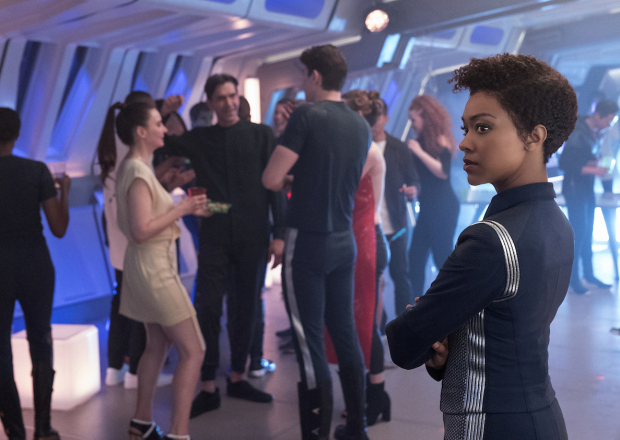 """""""Magic to Make the Sanest Man Go Mad"""" -- Episode 107 -- Pictured: Sonequa Martin-Green as First Officer Michael Burnham of the CBS All Access series STAR TREK: DISCOVERY. Photo Cr: Michael Gibson/CBS © 2017 CBS Interactive. All Rights Reserved."""