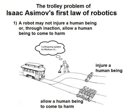 asimov trolley problem
