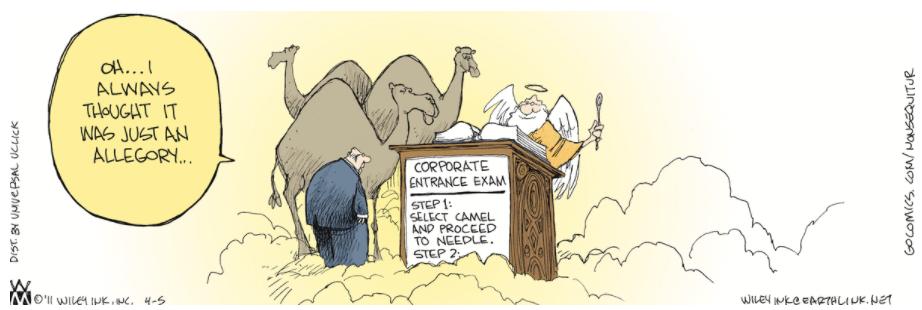 Wiley Non Sequitur Camel Needle Heaven