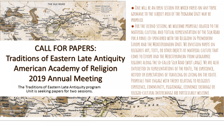 Traditions of Eastern Late Antiquity 2019 #CFP