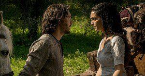 Judah Ben-Hur (Jack Huston) and Esther (Nazanin Boniadi) in Ben-Hur. Image courtesy of Paramount Pictures