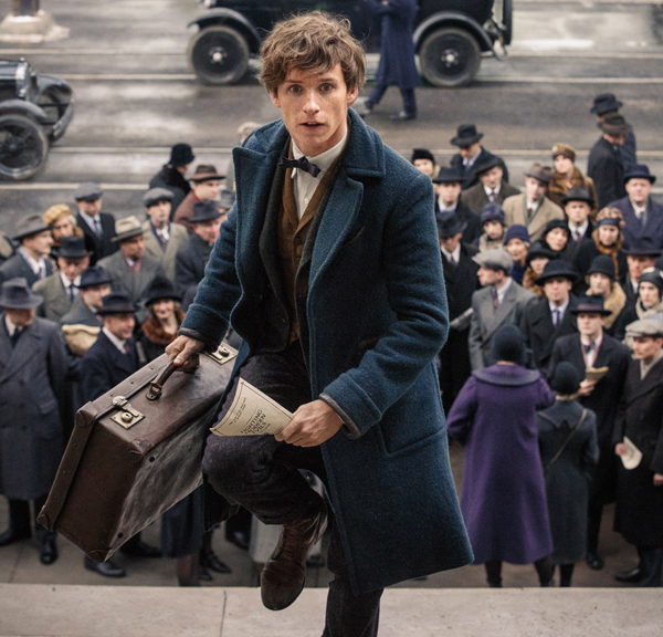 Eddie Redmayne plays Newt Scamander in Fantastic Beasts and Where to Find Them. Image courtesy of Warner Brothers Pictures.