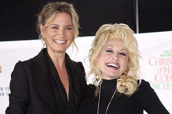 Jennifer Nettles (left) and Dolly Parton star in Christmas of Many Colors: Circle of Love. Photograph by DeWayne Hamby