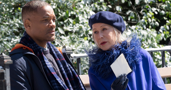 Will Smith and Helen Mirren star in Collateral Beauty. Image courtesy of New Line Cinema/Warner Brothers Pictures