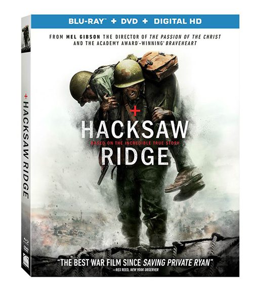 Hacksaw Ridge, starring Andrew Garfield, will arrive on Blu-Ray and DVD on Feb. 21. Image courtesy of Lionsgate Pictures.