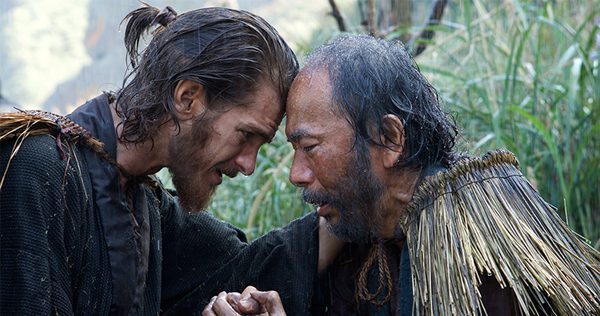 Silence, directed by Martin Scorsese, stars Andrew Garfield, Adam Driver, and Liam Neeson. Image courtesy of Paramount Pictures.