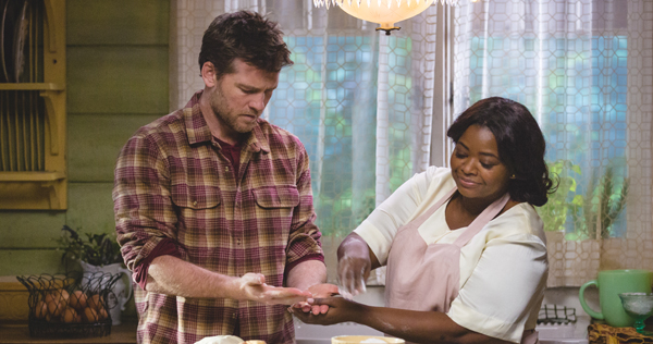 Mack Phillips (Sam Worthington) and Papa (Octavia Spencer) in THE SHACK. Photo Credit: Jake Giles Netter. Image courtesy of Summit Entertainment.