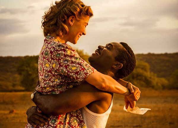 "Rosamund Pike as ""Ruth Williams"" and David Oyelowo as ""Seretse Khama"" in the film A United Kingdom Photo courtesy of Fox Searchlight Pictures. © 2016 Twentieth Century Fox Film Corporation All Rights Reserved"