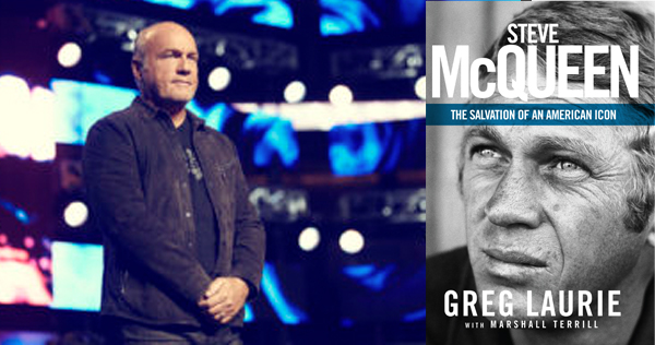 Greg Laurie (left) releases two new projects on the conversion of Steve McQueen, including 'Steve McQueen: The Salvation of an American Icon.' Images used by permission.