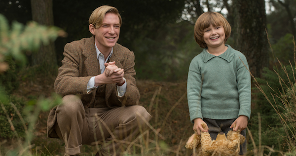 Goodbye Christopher Robin from Fox Searchlight Pictures stars Domhnall Gleeson, Margot Robbie, and newcomer Will Tilston. Image courtesy of Fox Searchlight.