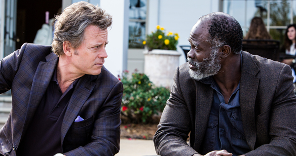 Greg Kinnear and Djimon Hounsou play Ron Hall and Denver Moore in the film 'Same Kind of Different As Me,' releasing Oct. 20 from Paramount Pictures/Pure Flix Entertainment. Image courtesy of Paramount Pictures.