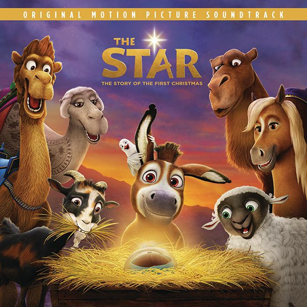 The soundtrack to The Star features Mariah Carey, Kirk Franklin, Kelsea Ballerini, Yolanda Adams, Zara Larsson, Casting Crowns and more. Image courtesy of Sony Music.