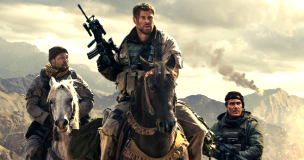 Chris Hemsworth, Michael Shannon and Michael Peña star in 12 Strong from Warner Brothers Pictures. Image courtesy of WIT PR.