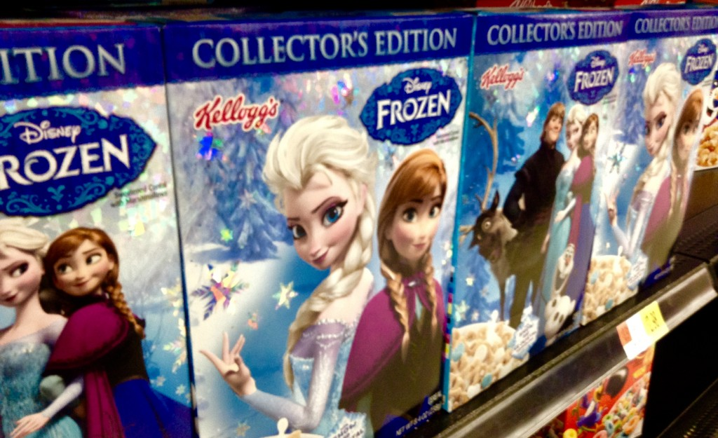Disney Frozen Kellogg's Kid's Breakfast Cereal, 12/2014, pic by Mike Mozart of the TheToyChannel and JeepersMedia on YouTube #Frozen #DisneyFrozen - by Mike Mozart, 20 Dec 2014 (15881172670_730bc54f7e_o.jpg) (CC BY 2.0 [https://creativecommons.org/licenses/by/2.0/]), via Flickr