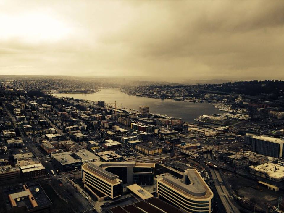 Seattle, from Space Needle - photo taken and edited by me
