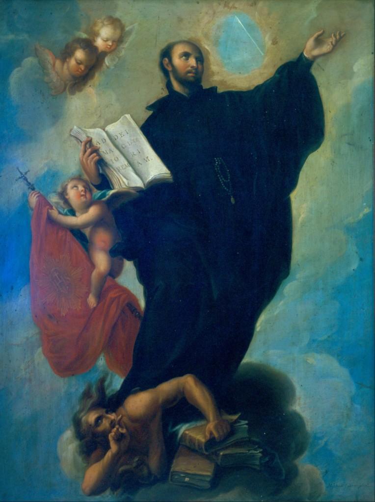 Ignatius of Loyola, by Miguel Cabrera (Miguel_Cabrera_-_Saint_Ignatius_Loyola_-_Google_Art_Project) [Public Domain], via Wikimedia Commons