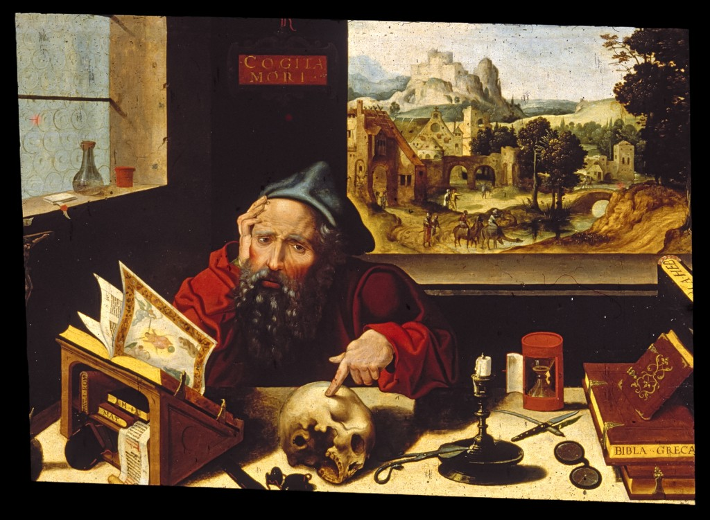 St Jerome in Study (Pieter Coecke van Aelst the Elder) - Public Domain (Workshop_of_Pieter_Coecke_van_Aelst_the_elder_-_Saint_Jerome_in_His_Study_-_Walters_37256.jpg), via The Art Walters Museum (http://thewalters.org/ per Wikimedia Commons)