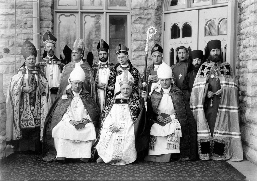 The consecration of Reginald Heber Weller as an Anglican bishop at the Cathedral of St. Paul the Apostle in the Protestant Episcopal Diocese of Fond du Lac (Fond-du-lac-circus.preview.jpg) [Public Domain], via Wikimedia Commons