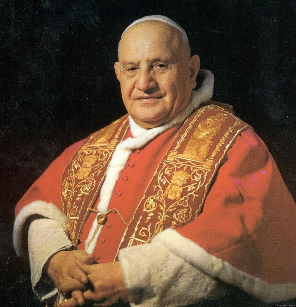 John XXIII - by Gedoughty02 (Pope_Saint_John_Paul_XXIII.jpg) [CC BY-SA 4.0 (https://creativecommons.org/licenses/by-sa/4.0/deed.en)], via Wikimedia Commons