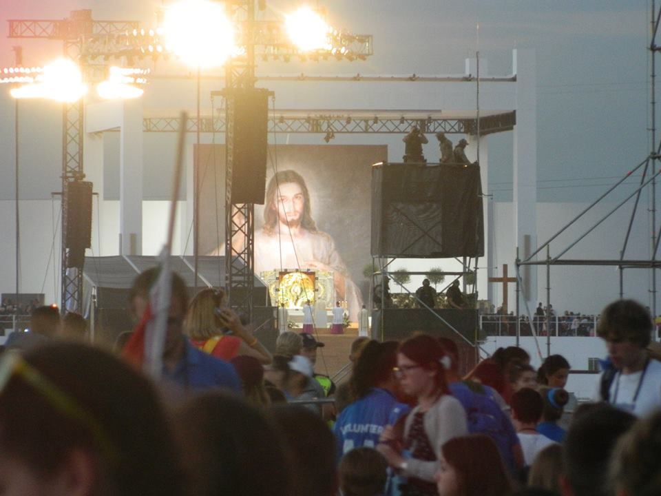 Evening Vigil - Adoration at Campus Misericordiae, World Youth Day 2016 - photo by Lawrence Lam (used with permission)