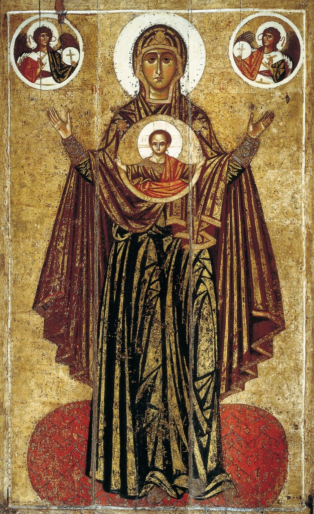 13th-century icon of the Great Panagia from the Saviour Minster in Yaroslavl - PD-Art, via Wikimedia Commons