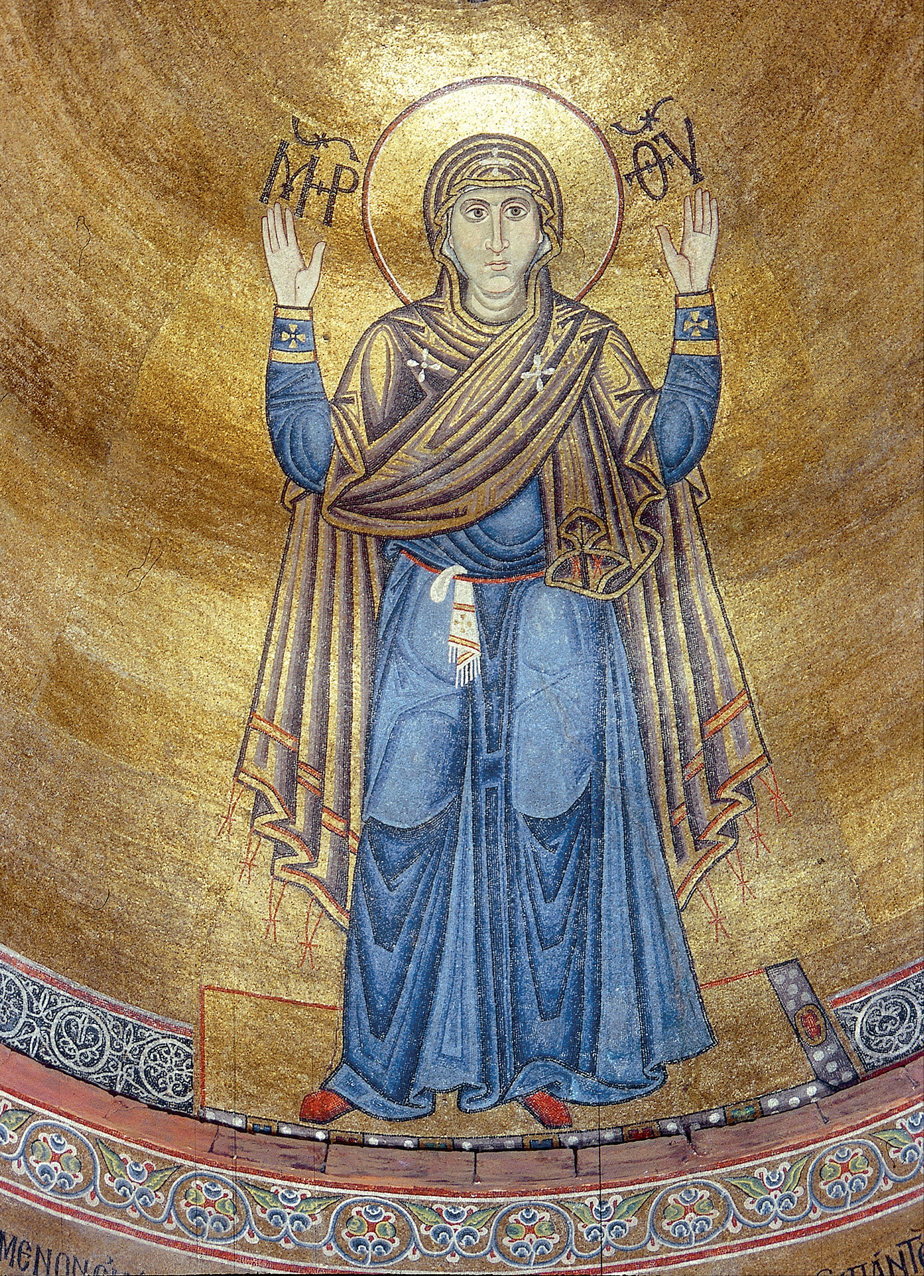 The Virgin Orans, St Sophia's Cathedral - PD-US, via Wikimedia Commons and Google Cultural Institute