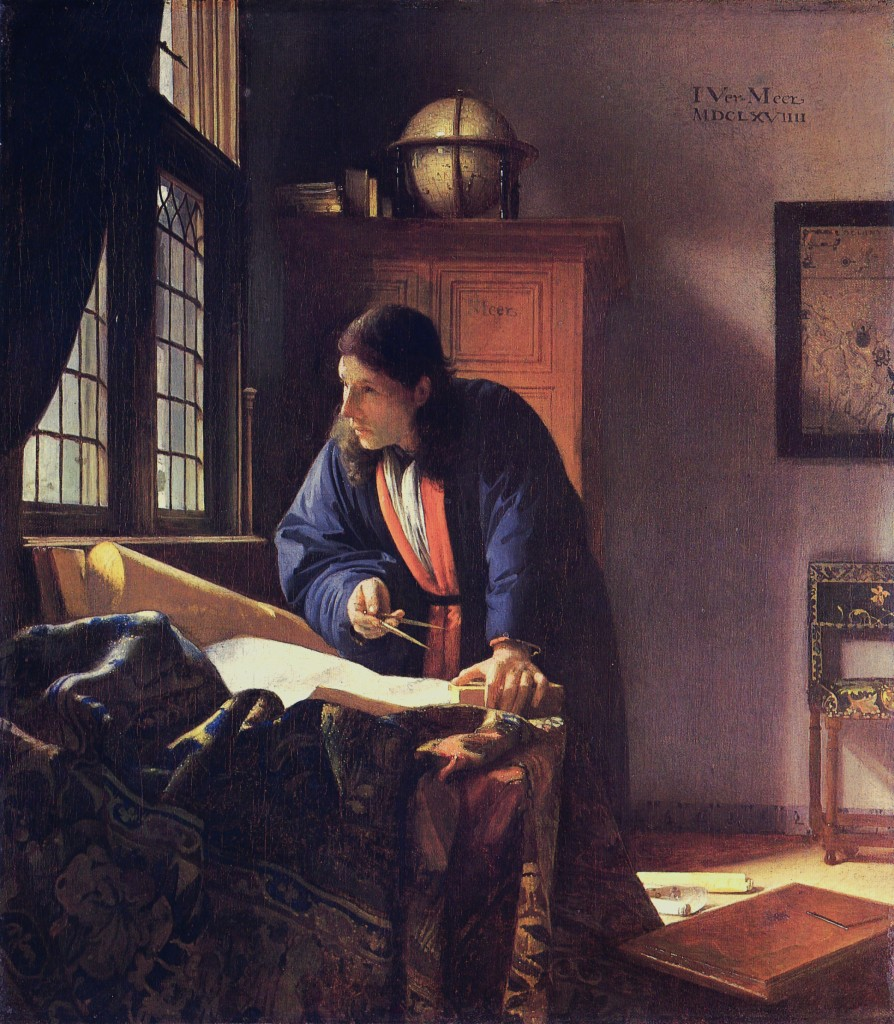 The Geographer, by Johannes Vermeer (PD-Art), via Wikimedia Commons