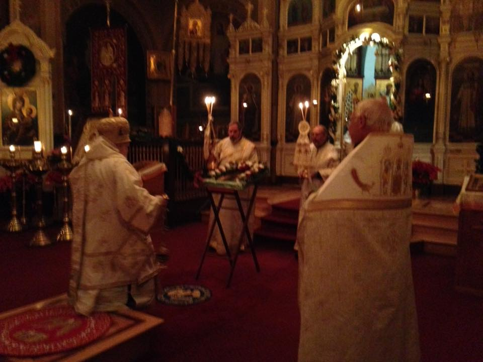 Vigil of Theophany at Holy Trinity Cathedral - photo by me