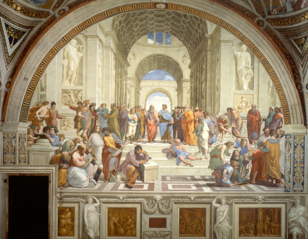 School of Athens, Raphael, 1511 - PD-Art, via Wikimedia Commons