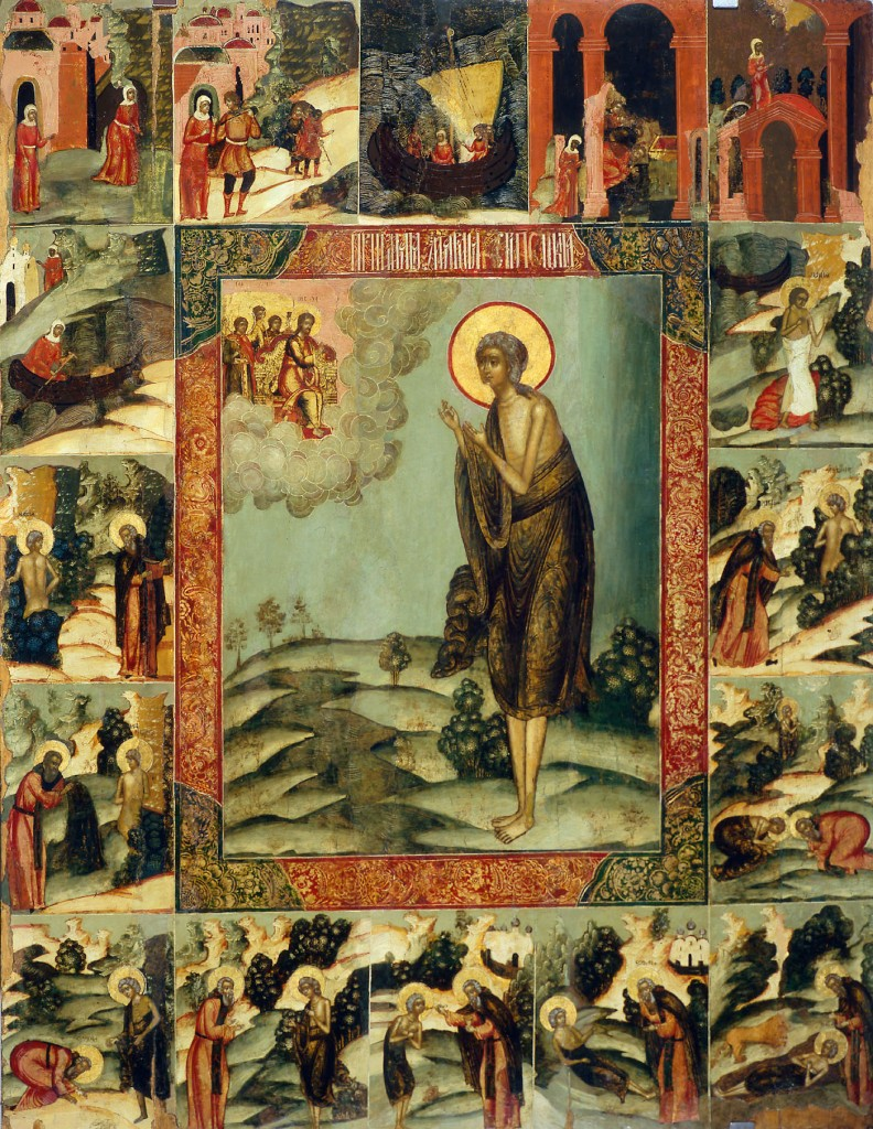 Russian icon of St Mary of Egypt - by Beliy Gorod, (Mary_of_egypt2.jpg) - PD-Art, via Wikimedia Commons