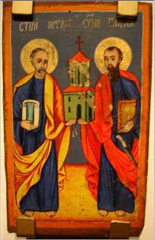 St Peter Paul Dovezentse Church 19 Century Icon - PD-Art, via Wikimedia Commons