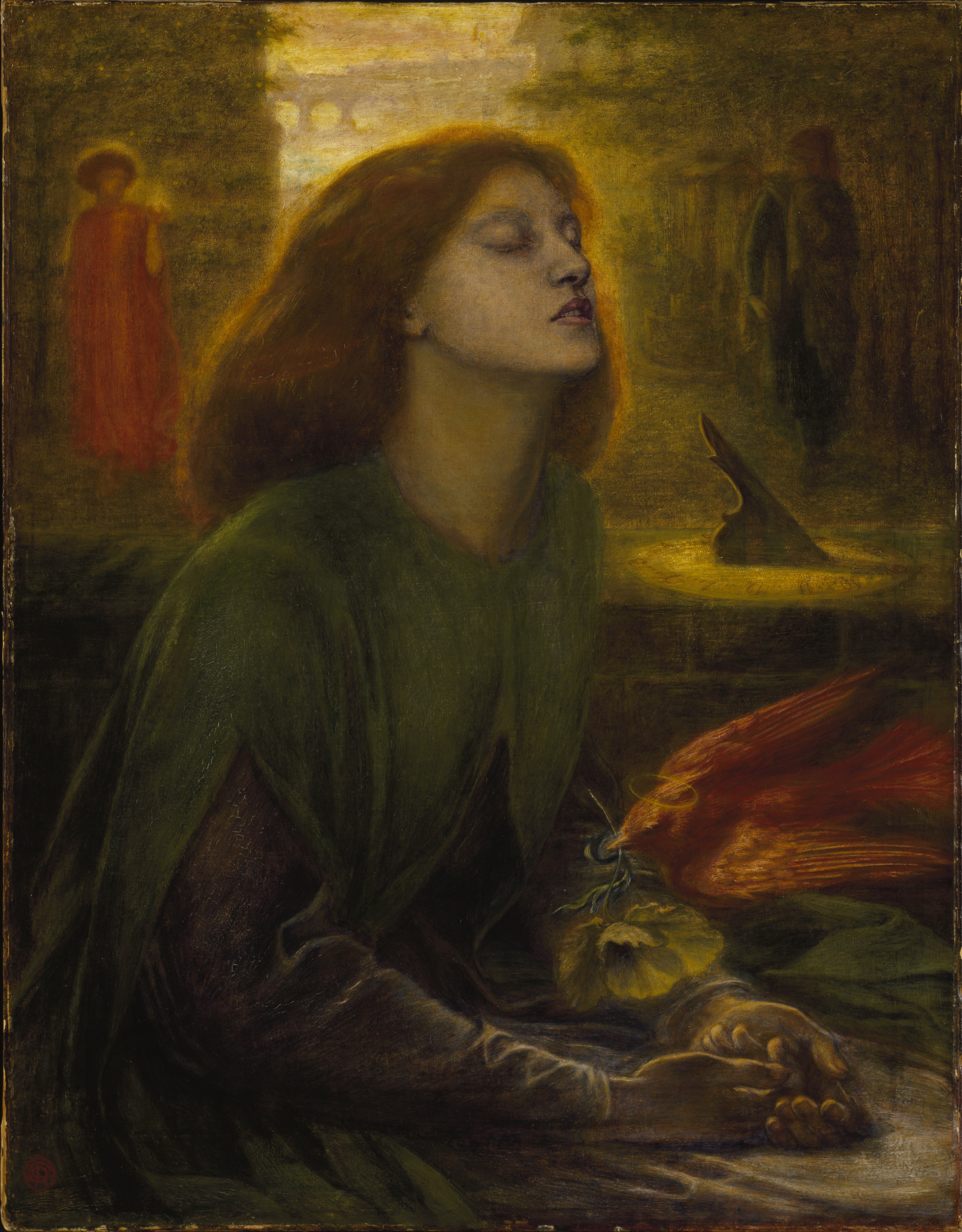 Dante Gabriel Rossetti: Beata Beatrix, ca 1864-70, PD-Art, via Wikimedia Commons