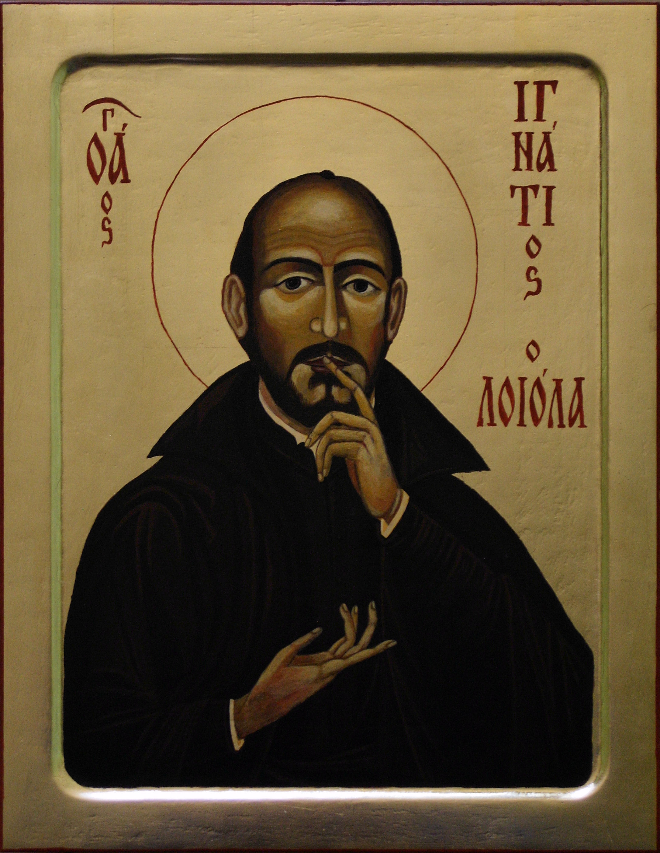 St Ignatius of Loyola, Icon made in Silesian School of Iconography - by 柯達理, 23 May 2009 (Loyola.jpg) (CC BY-SA 3.0 [https://creativecommons.org/licenses/by-sa/3.0/deed.en]), via Wikimedia Commons