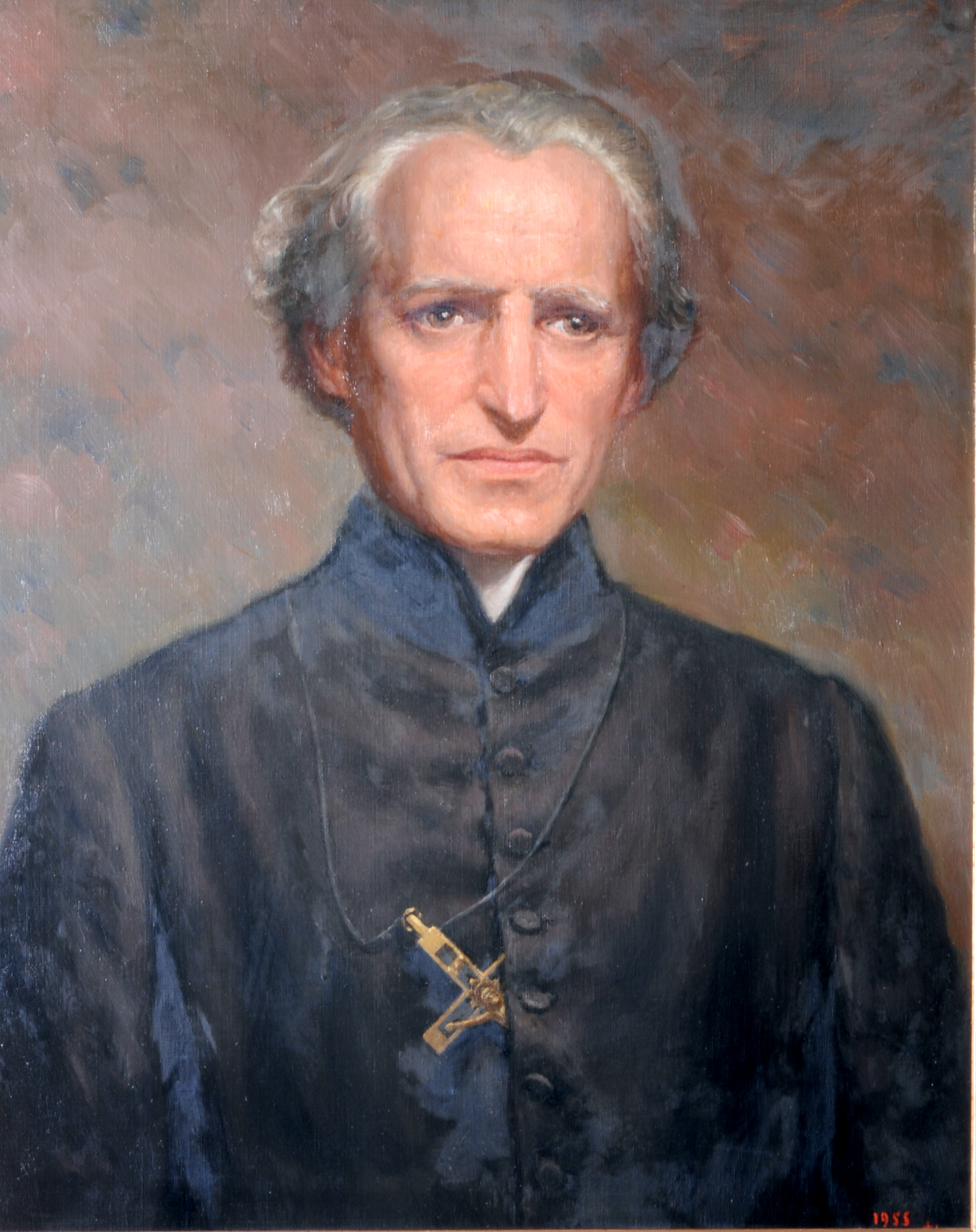 Image of Basil Moreau, C.S.C., founder of the Congregation of Holy Cross - by Congregation of Holy Cross, 6 March 2005 (Official_Moreau_high_density.jpg) (CC BY-SA 3.0 [https://creativecommons.org/licenses/by-sa/3.0/deed.en]), via Wikimedia Commons