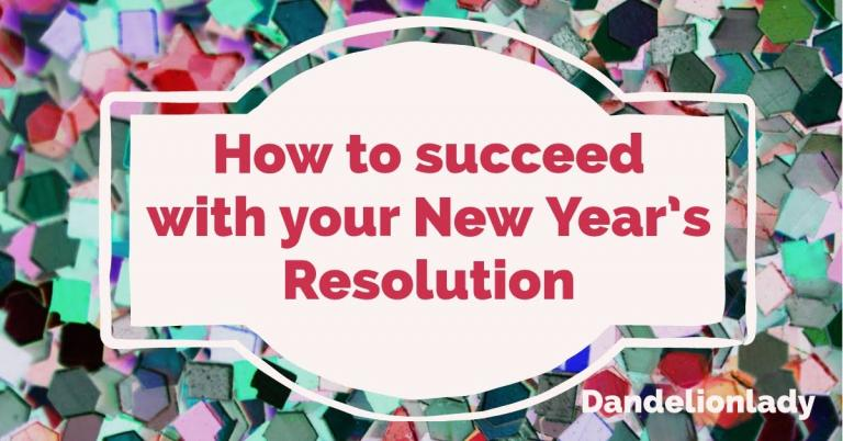 brightly colored tiles and stars with the text: How to Succeed with your New Year's Resolution