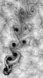 heart shape in turbulent flow