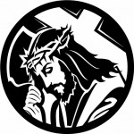 Christ carrying cross clipart by www.vectorportal