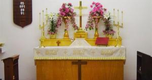 Flowrers and Cross St. Chrys altar - 782 x 411
