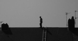 Rooftop man on