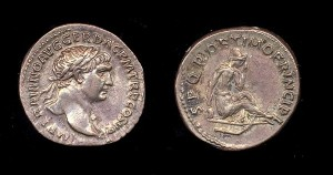Caesar coin SPQR