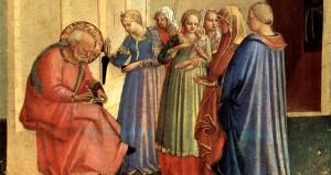 Zechariah naming John the Baptist Fra Angelico