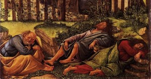Disciples Sleeping - Botticelli Agony in the Garden