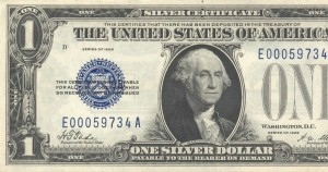 Dollar Bill part cut off