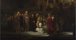 Woman Taken in Adultery - Rembrandt