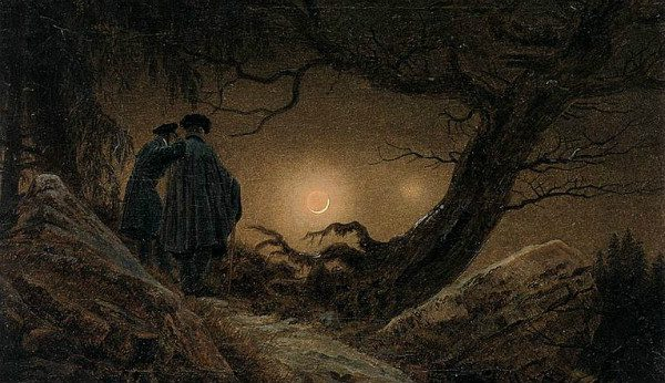 """Two Men Contemplate the Moon"" by Caspar David Friedrich. From WikiMedia."