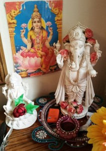 Ganesha & Lakshmi on my altar
