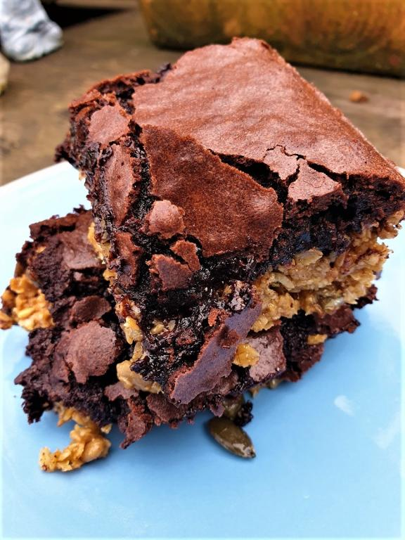 brownie flapjacks, kitchen witch, rachel patterson, practically pagan cooking